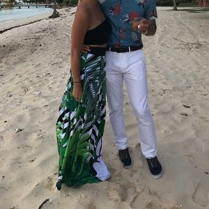 Sugarbird Skirts - Mini mouse green tropical dress Sugarbird